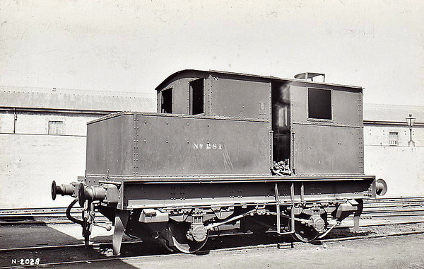 Class M1 - 281 - Sentinel GSR 0-4-0VBT - built 1927 by Sentinel Waggon Works Ltd. as GSR No.2 - 1927 to GSR No.281 - 1945 to CIE - 1948 withdrawn.